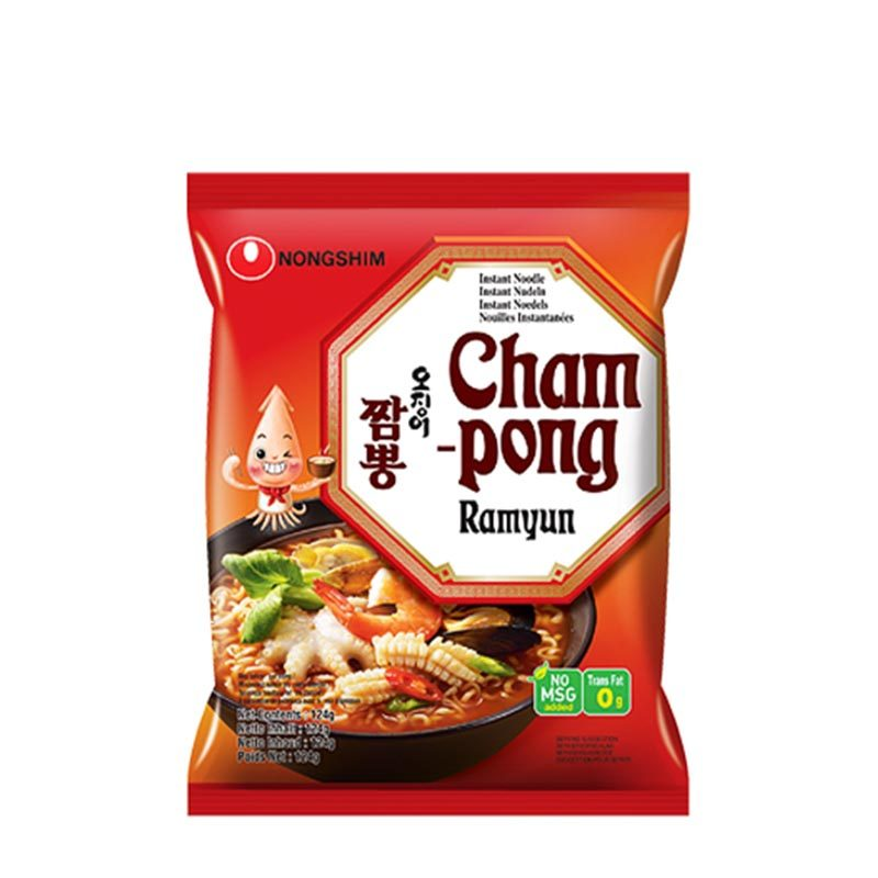 Champong-blackfisknudlar
