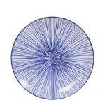 Nippon Blue Japansk Tallrik (Linjer) 20.6×2.2 cm