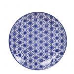 Nippon Blue Japansk Tallrik (Stjärnor) 20.6×2.2 cm