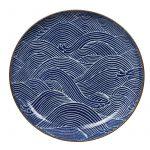 Seigaiha Blue Tallrik 25x3cm