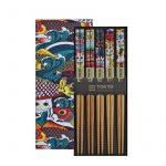 Presentförpackning Fem Ätpinnar Lucky Cat & Koinobori